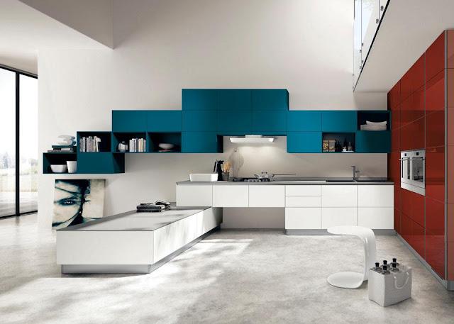 Cucina integrata con soggiorno
