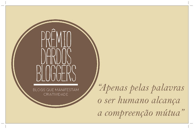 Prêmio Dardos Bloggers (indicação do Blog Das Arteiras)