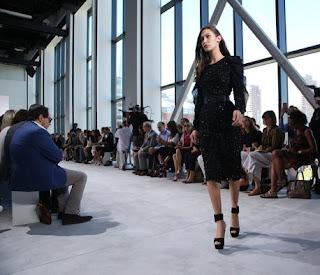 Gigi Hadid's sister Bella Hadid falls midway at Michael Kors show