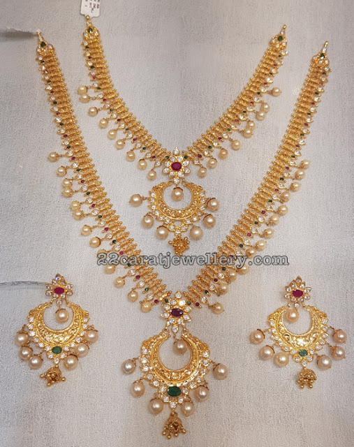 Simple Gold Sets from Mahalaxmi Jewellers