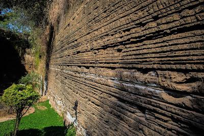 Parque do Varvito - Itu - Detalhe do paredão de varvito