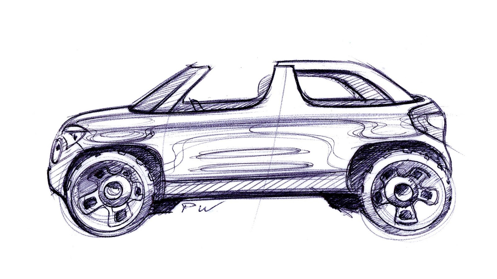 Skoda Yeti Roadster sketch by Peter Wouda