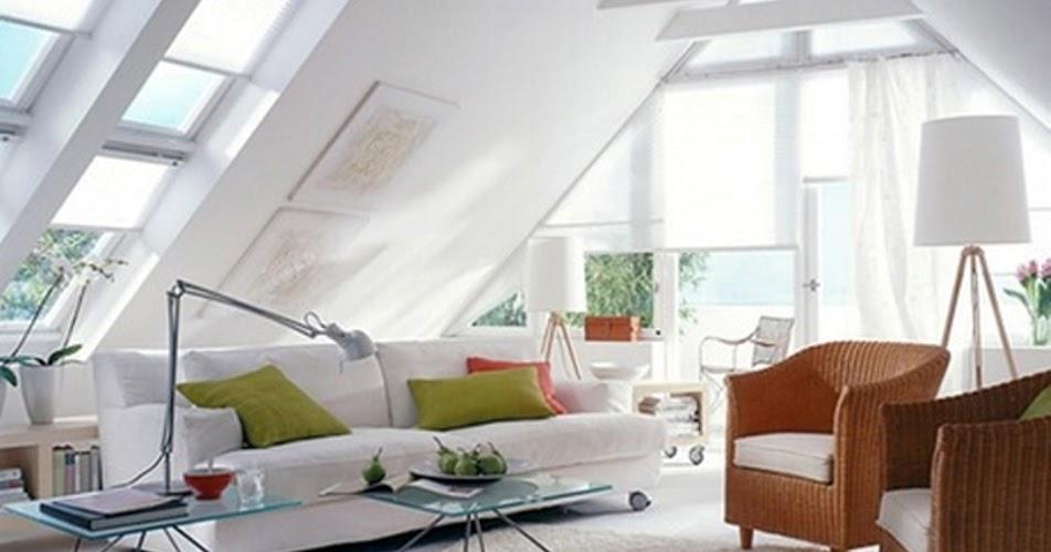 Decoração Ideias para fazer a sua Sala no Sotão (águas furtadas ~ Sala De Tv No Sotao