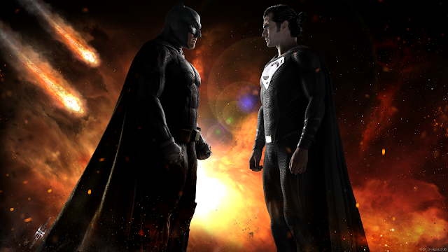 Justice League Movie, Batman, Superman, Zack Snyder, DC Films, Warner Bros, Ben Affleck, Henry Cavill, Fan Art, Digital Art, Poster