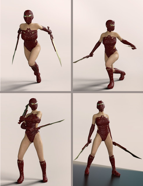 Quixotry's Poses for Autumn Soldier