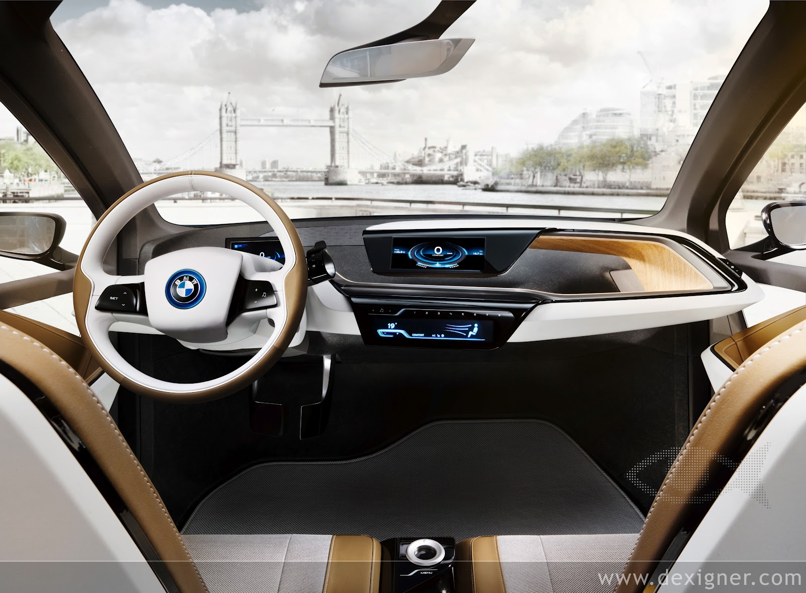 the electric bmw i3 first i3 interior spy shot captured by bimmerpost. Black Bedroom Furniture Sets. Home Design Ideas