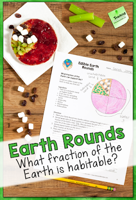 What fraction of our planet can support life? Create edible Earth Rounds to find out!