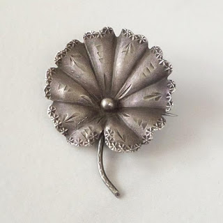 Rare Aesthetic Antique Victorian Water LILY Brooch STERLING - Years After