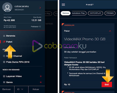 Cara Mendapat Kuota 30Gb, Rp10 Di Maxstream Telkomsel