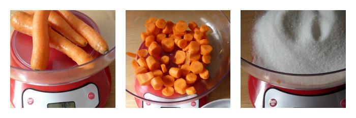 bizcocho de zanahoria en microondas-elaboración de la receta