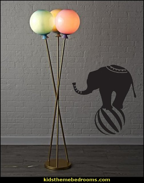 Balloon Floor Lamp   circus bedroom ideas - circus theme bedroom decor - carnival theme bedrooms - decorating circus theme bedrooms - Ice Cream theme decor - balloon decor - Disney Dumbo - circus party theme - Roller Coaster Amusement Park wall decals - ice cream party decorations