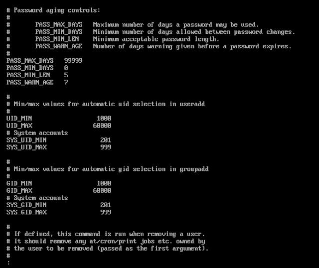 /etc/login.defs file in linux