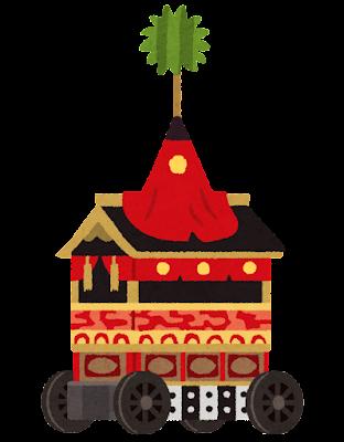 祇園祭の山鉾のイラスト