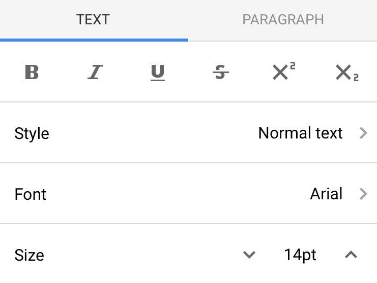 how to write subscript in google docs