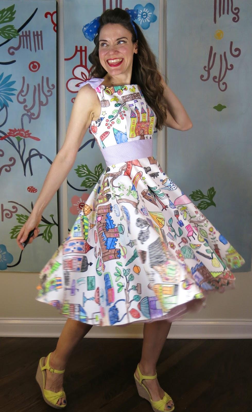 cassie stephens diy a coloring book dress