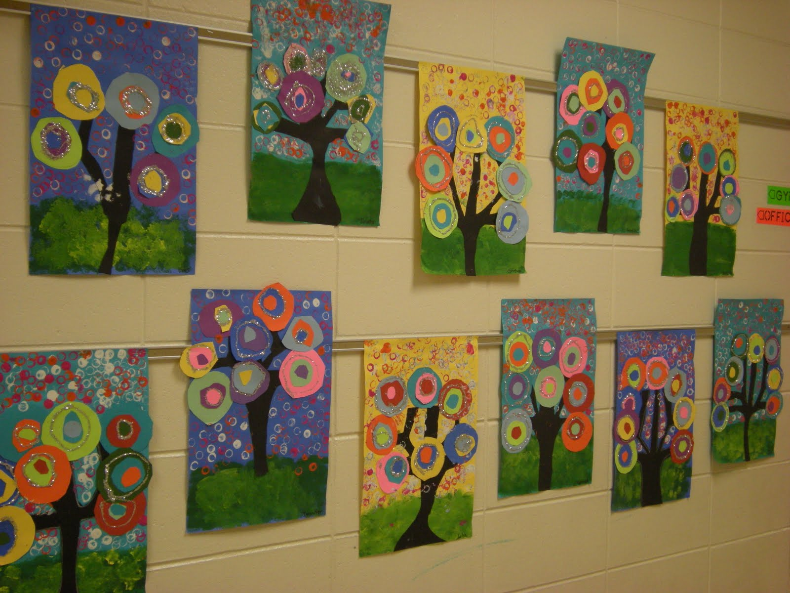 What S Happening In The Art Room Kandinsky Trees 1st Grade