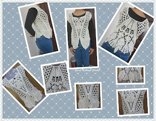 free crochet pattern, free crochet ladies top, Anchor knitting cotton