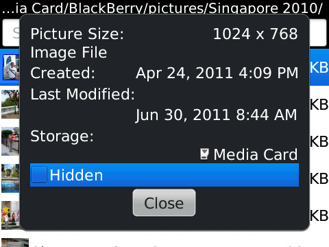 Cara Menyembunyikan File Foto/ Video Di Blackberry