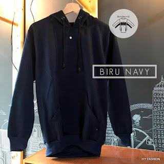 model  Jaket Sweater Navy Blue  cewek dan cowok kekinian