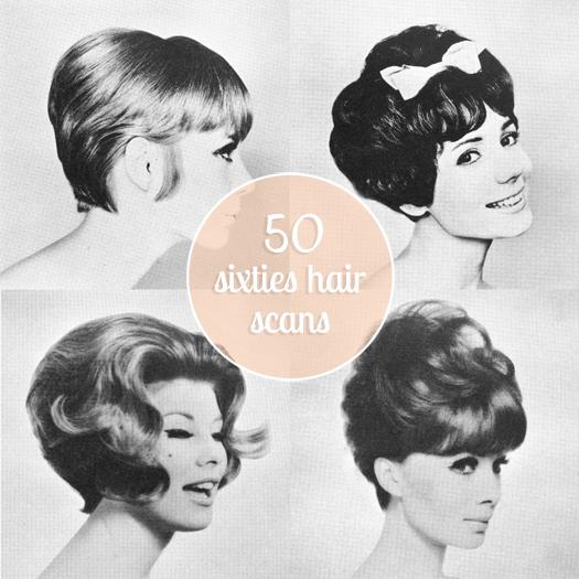 Scathingly Brilliant Freebie 50 Sixties Hair Scans
