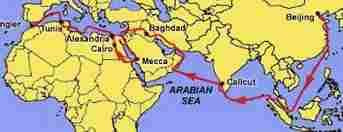 peta perjalanan ibnu batuta (www.allmipa.com)