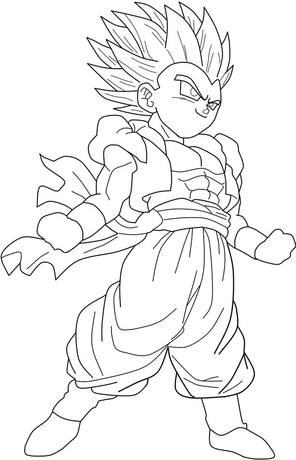 Gotenks Super Saiyan 4 Coloring Pages Coloring Pages