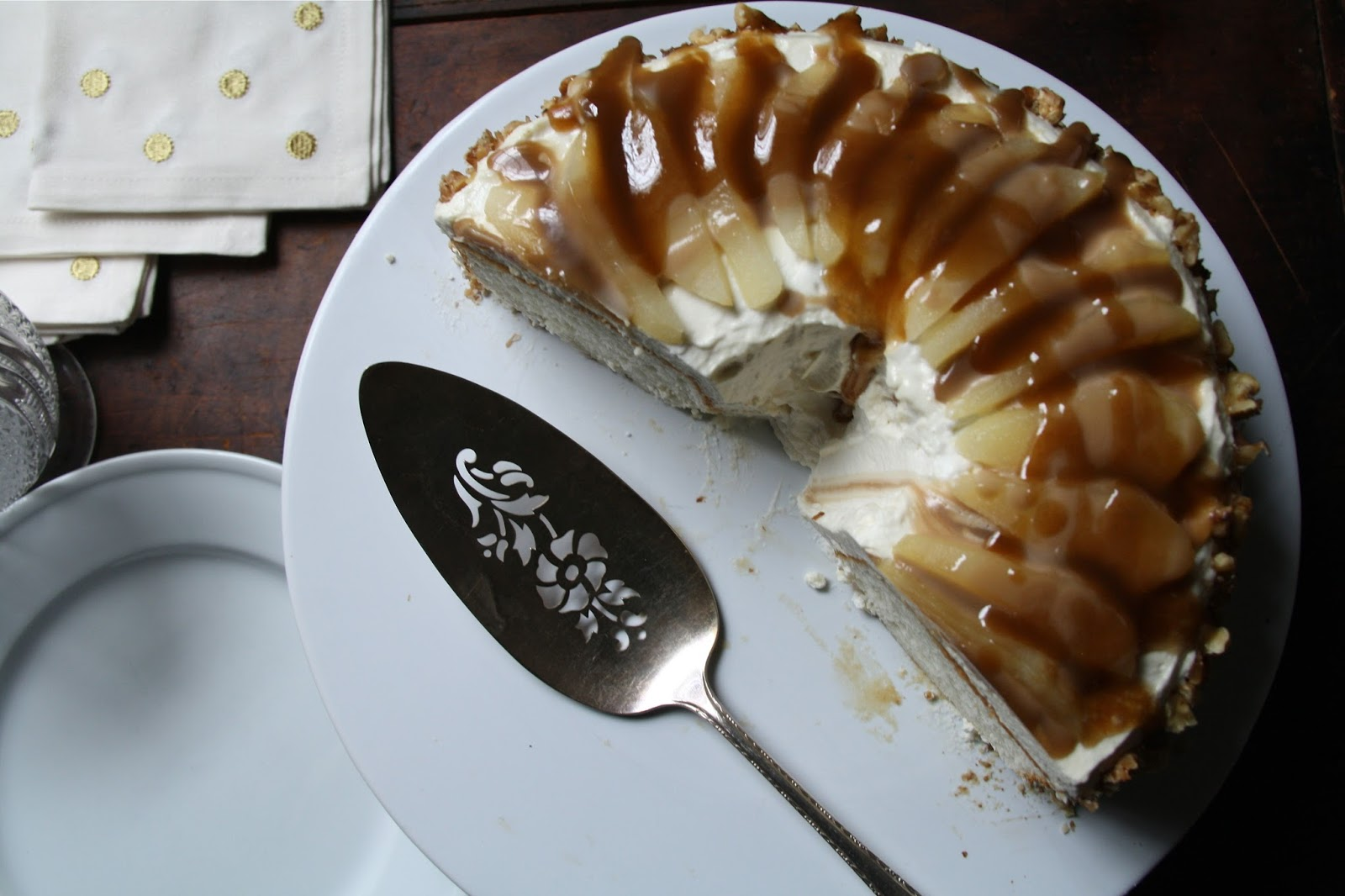 recipe: pear cake with caramel sauce [10]