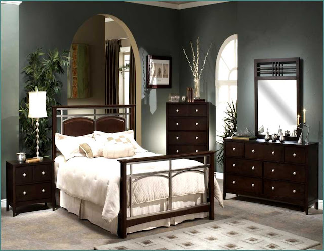 queen dark wood bedroom furniture sets under 300