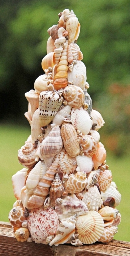 Handmade Shell Cone Christmas Tree