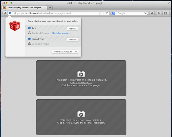Firefox 17 Beta Released with Click-to-Play Plugins for blocking vulnerable Plugins