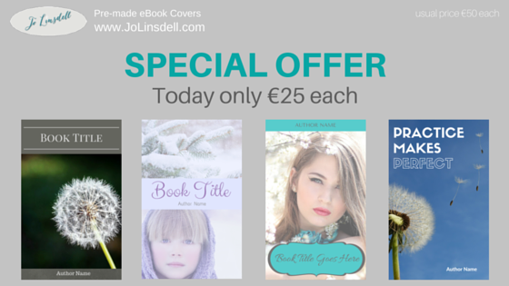 SPECIAL OFFER: Pre-made ebook covers €25 each Today Only!