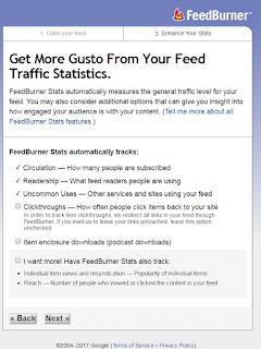 Personalizando la nueva dirección del feed en Feedburner 3