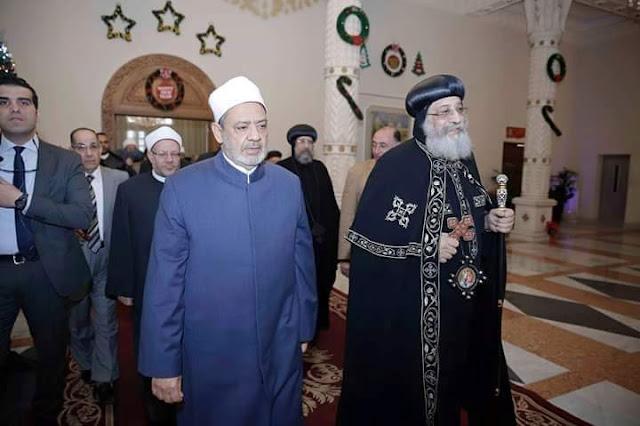 Grand Syaikh Al-Azhar Kunjungi Gereja Ortodoks di Cairo Mesir