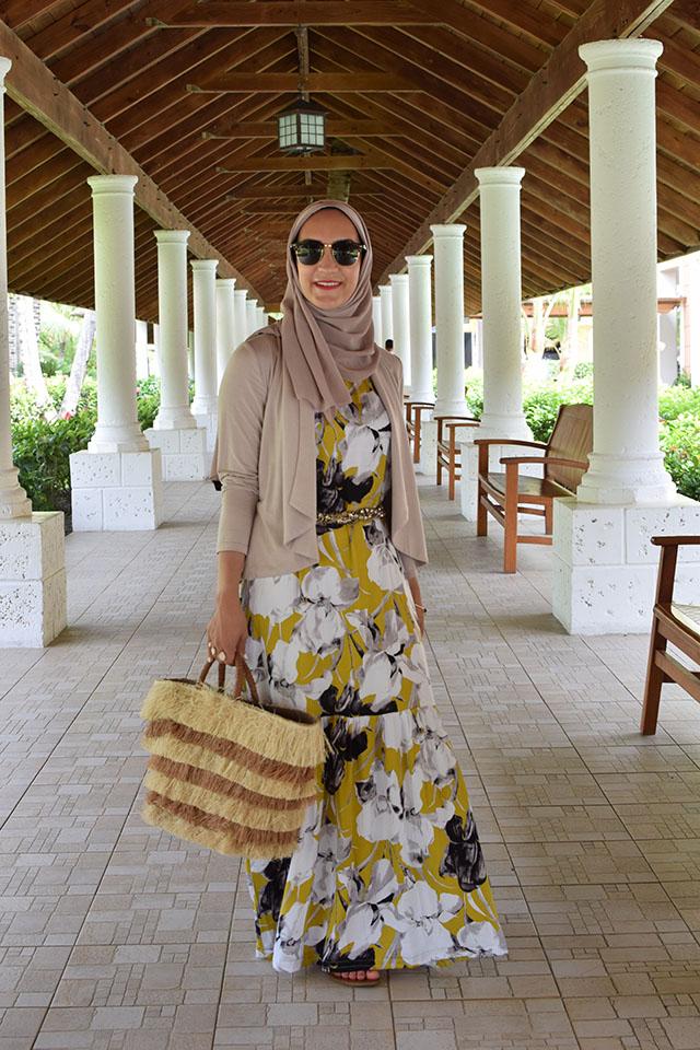 Floral Print Dress-Dominican Republic-Hijabi-Modest Fashion-Maxi Dress-Summer Style