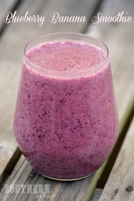 Healthy Blueberry Banana Coconut Water Smoothie