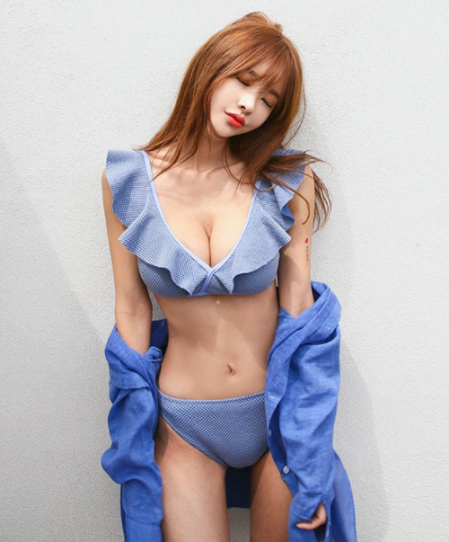 Frilled Textured Bikini