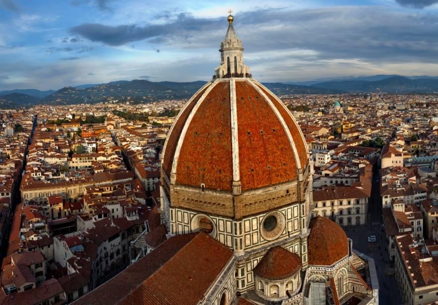 5d92d25f9 Teto da cúpula do Duomo de Florença, obra prima de Brunelleschi (Thinkstock)