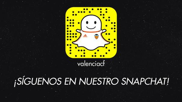 El Valencia ya está en SnapChat
