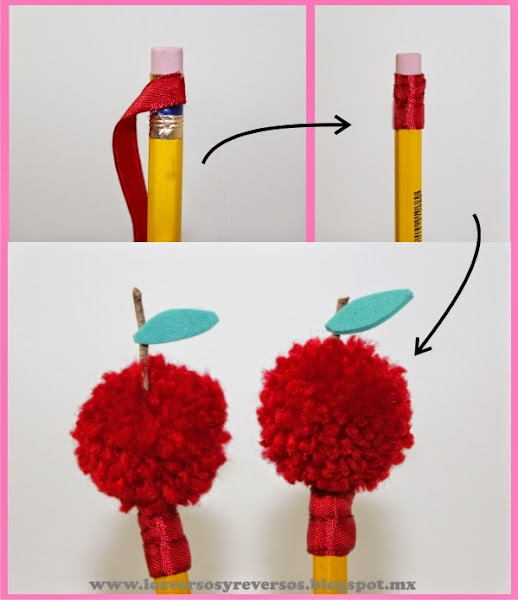 Un bouquet de manzanas para la maestra   Manualidades