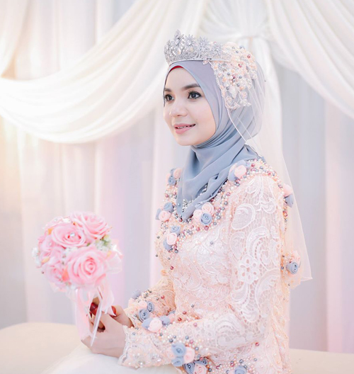 model baju pengantin berjilbab