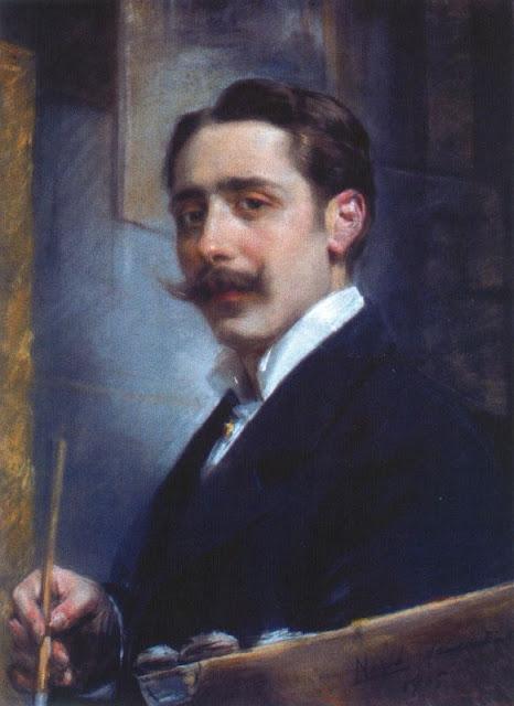 José Nogué Masso, Self Portrait, Portraits of Painters, Fine arts, José Nogué, Portraits of painters blog, Paintings of José Nogué, Painter José Nogué