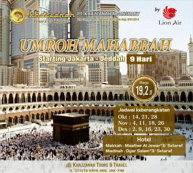 Umroh Mahabbah Khazzanah Tour Lion