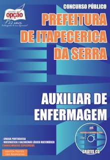 download apostila Prefeitura Itapecerica da Serra pdf para Auxiliar de Enfermagem gratis.