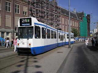 tram em Amsterdã