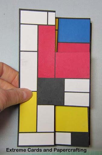 folded tri-shutter card
