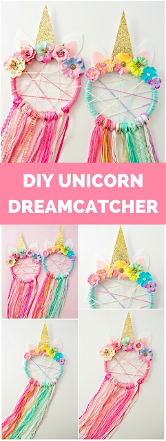 Unicorn Party Fiesta Temática de Unicornio Decoración del Local Atrapasueños Dreamcatcher
