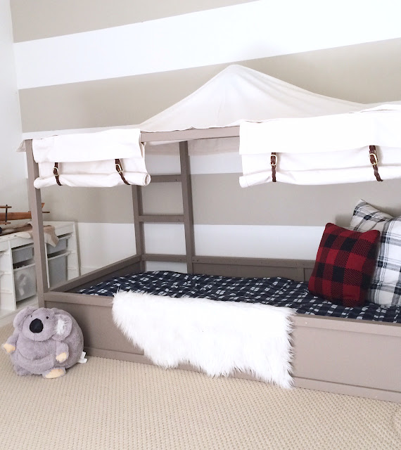 Ikea Kura Bed Hack Diy Boy Canopy Bed Harlow Amp Thistle