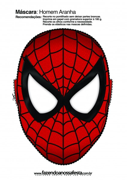 picture regarding Superhero Printable Mask named Spiderman Free of charge Printable Mask. - Oh My Fiesta! for Geeks