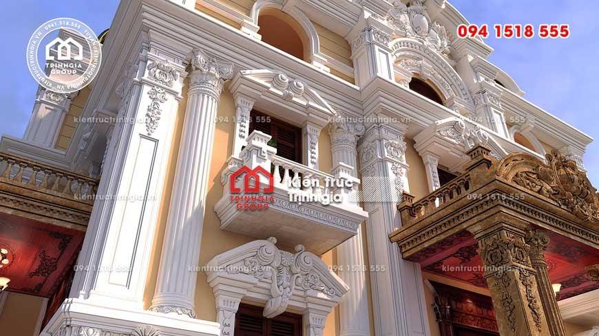 Mẫu biệt thự lâu đài 3 tầng kiểu Pháp kiến trúc cổ điển đẹp! - Ảnh 2