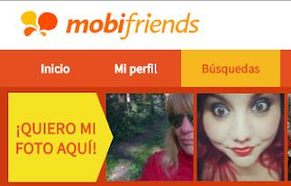 Ligar en Mobifriends: Buscar gente